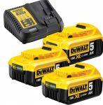 Акумулаторни батерии 18V 3Ah 3бр + Зарядно устройство DCB115P3 Dewalt