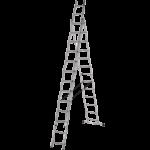 Алуминиева стълба 3x13 три секторна DjodiTrade