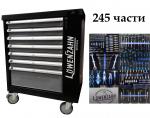Количка с инструменти 245 части 7 чекмеджета пълни LoweNzahn
