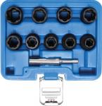 Вложки - екстрактори за отвиване на повредени болтове и гайки 1/2'' 10бр BGS