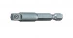 Адаптор за битове 1/4 HEXx1/4 F SQ L50 mm TMP